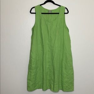J Jill like green linen sleeveless dress XL